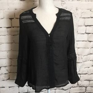 *Sale* Renee C Detailed Long Sleeve Blouse Small